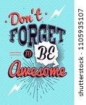 motivational typography vector... | Shutterstock .eps vector #1105935107