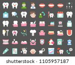 dentist and dental clinic...   Shutterstock .eps vector #1105957187