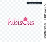 hibiscus vector icon isolated... | Shutterstock .eps vector #1105962077