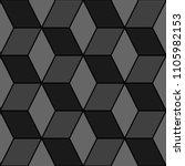 mosaic. rhombuses ornament.... | Shutterstock .eps vector #1105982153