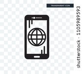 smartphone vector icon isolated ... | Shutterstock .eps vector #1105989593