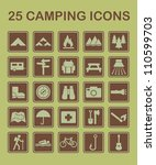 set of camping and nature... | Shutterstock .eps vector #110599703