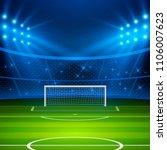 soccer stadium. football arena... | Shutterstock .eps vector #1106007623