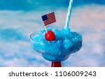 close up of a frozen blue... | Shutterstock . vector #1106009243