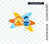 childcare vector icon isolated... | Shutterstock .eps vector #1106018387