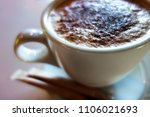 cup of morning coffee with... | Shutterstock . vector #1106021693