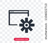 settings vector icon isolated... | Shutterstock .eps vector #1106022713