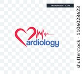 cardiology vector icon isolated ... | Shutterstock .eps vector #1106028623