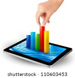 tablet screen with graph and a... | Shutterstock .eps vector #110603453