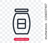 conserve vector icon isolated... | Shutterstock .eps vector #1106037407