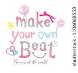 typography slogan glitter with... | Shutterstock .eps vector #1106068553