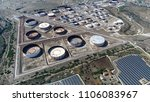aerial bird view photo of oil...   Shutterstock . vector #1106083967