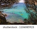 la fosca beach with people...   Shutterstock . vector #1106085923