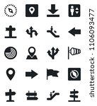 set of vector isolated black... | Shutterstock .eps vector #1106093477