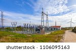 collector substation for a wind ...   Shutterstock . vector #1106095163
