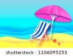 pink parasol   umbrella in... | Shutterstock .eps vector #1106095253
