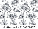 vector seamless pattern with... | Shutterstock .eps vector #1106127407