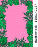 tropical leaves fashionable... | Shutterstock . vector #1106142287