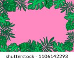 tropical leaves fashionable... | Shutterstock . vector #1106142293
