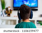 video gamer playing a videogame ... | Shutterstock . vector #1106159477