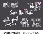 you are invited  save the date  ... | Shutterstock .eps vector #1106174123