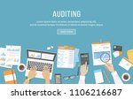 accounting  business meeting ... | Shutterstock . vector #1106216687