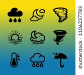 vector icon set about weather... | Shutterstock .eps vector #1106237783