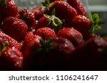 healthy strawberry background... | Shutterstock . vector #1106241647