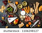 appetizers table with italian... | Shutterstock . vector #1106248127