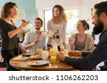 a group of multi ethnic friends ...   Shutterstock . vector #1106262203