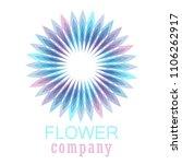 colorful flower logo  symbol ... | Shutterstock .eps vector #1106262917