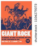 giant rock poster flyer template | Shutterstock .eps vector #1106275073