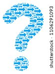 question mark mosaic composed... | Shutterstock .eps vector #1106291093
