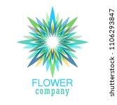 colorful flower logo  symbol ... | Shutterstock .eps vector #1106293847