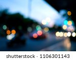 bokeh from street lights and... | Shutterstock . vector #1106301143