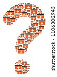 faq shape created with first... | Shutterstock .eps vector #1106302943