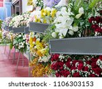 several round shape funeral... | Shutterstock . vector #1106303153