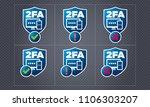 vector two factor...   Shutterstock .eps vector #1106303207