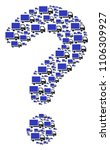 query collage constructed of...   Shutterstock .eps vector #1106309927