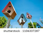 colorful bird house in summer... | Shutterstock . vector #1106337287