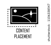 content placement icon. element ...