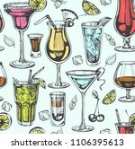 seamless pattern with color... | Shutterstock .eps vector #1106395613