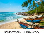 untouched tropical beach with... | Shutterstock . vector #110639927