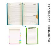 vector realistic opened notepad ...   Shutterstock .eps vector #1106407253