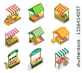 street vendor booth with canopy ... | Shutterstock .eps vector #1106414057