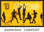 mexico   circa 1968  a stamp... | Shutterstock . vector #110645207
