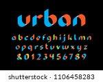 transparent font. vector... | Shutterstock .eps vector #1106458283