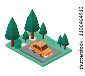 taxi in the parking zone... | Shutterstock .eps vector #1106464913