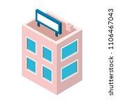 store building exterior... | Shutterstock .eps vector #1106467043