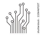 circuit electric lines icon | Shutterstock .eps vector #1106469107